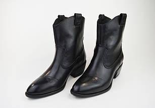 Черевики козачки Corso Vito 1311491 чорні шкіра, фото 2