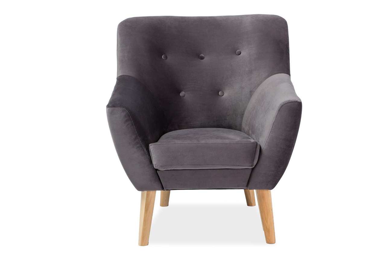Кресло Signal Nordic 1 Velvet 90х76 см Серый (NORDIC1V14)