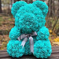 Оригинал! Мишка из роз 40см в красивой подарочной коробке! упаковке мишка Тедди из роз, подарок девушке!