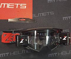 Мотоочки LAZER Goggle Race Style Black Red - Clear Lens