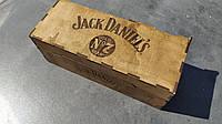 Подарочная коробка под 0,7 Джека из дерева, фото 1