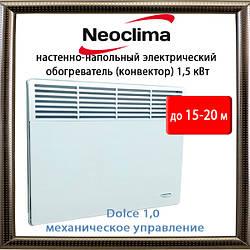 Neoclima Dolce 1,0 Электрический обогреватель (конвектор) до 20-25 кв.м. механический, Китай
