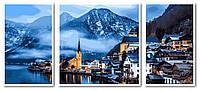 Картина рисование по номерам Babylon Зимняя Австрия Триптих 50х110см VPT051 набор для росписи, краски, кисти,