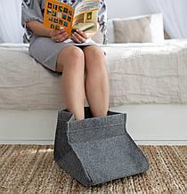 Электрическая грелка для ног Сапожок, Серый, Трио 02201, грелка для ног электрическая   грілка для ніг (GK)