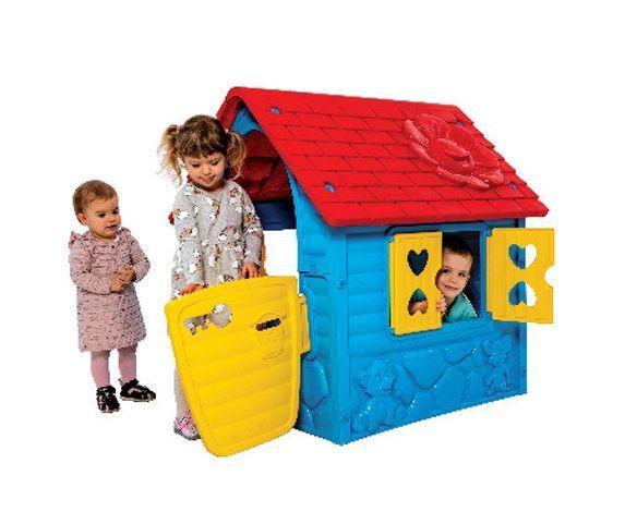 Домик для детей игровойпластмассовый с 2 лет разноцветный (456)