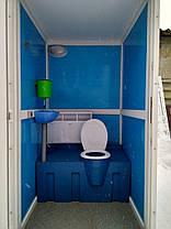 Утеплена туалетна кабіна 114х125х220см, фото 2
