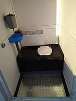 Утеплена туалетна кабіна 114х125х220см, фото 3