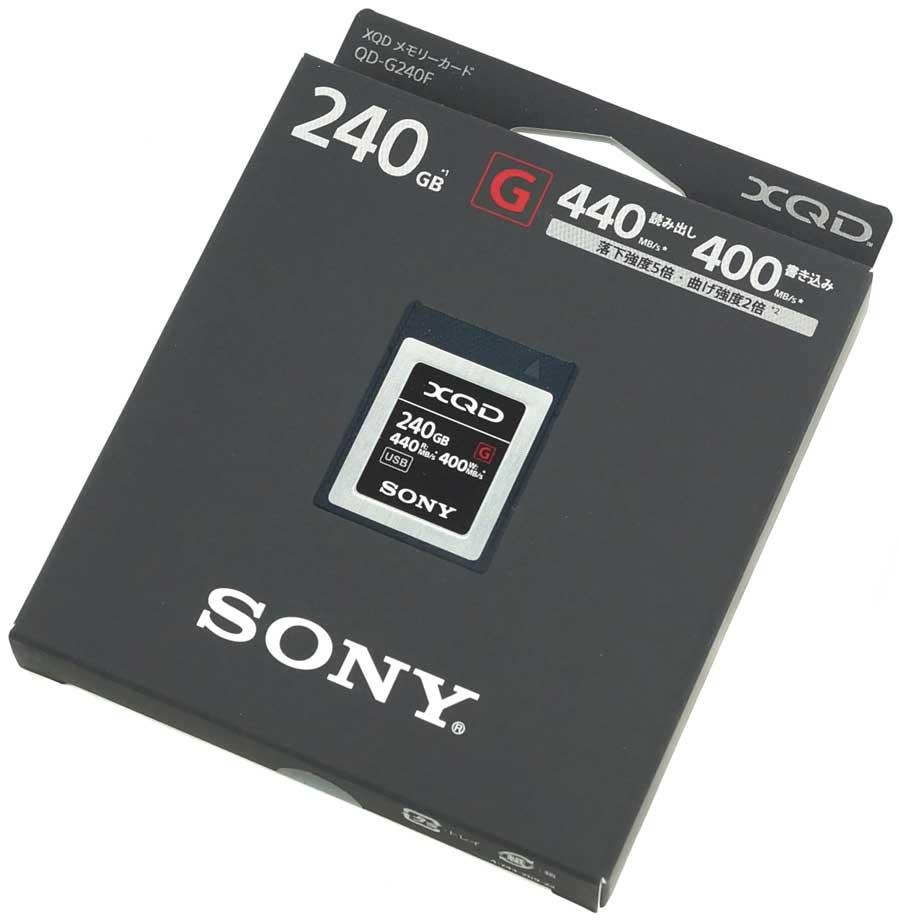 XQD 240GB Sony карта памяти для фото и видеокамер QD-G240F (240 Гб)