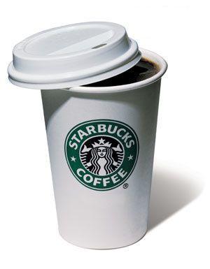 """Термостакан """"Starbucks"""", Термостакан керамический с резиновой крышкой """"Starbucks"""" 350мл"""