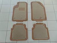 Коврики в салон резина/войлок, PVС NBR TS2212P BE, универсальные, бежевые, комплект 5шт