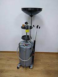 Установка для зливу і вакуумного відкачування масла з мірною колбою EuroCraft : 85 л. | Польща