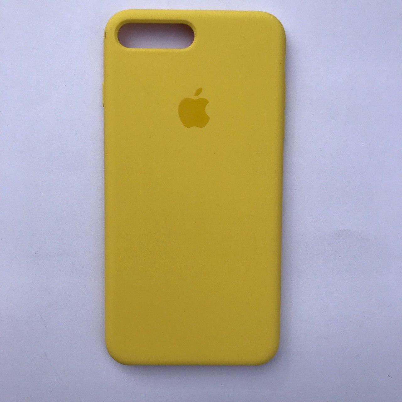 Чехол Silicone Case для Apple iPhone 7 Plus, 8 Plus Canary Yellow