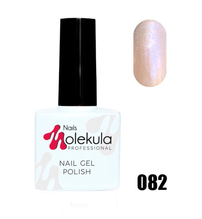 Гель-лак для ногтей Molekula 11мл №082 Хамелеон персиковый с голубым отливом