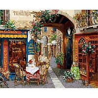 Картина по номерам раскраска по цифрам холст с контуром для взрослых 40х50см волшебный переулок