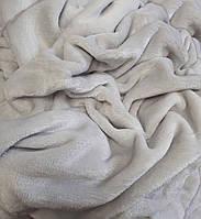 Плед на кушетку Плюшевий, Світло-сірий (110 х 180 см)