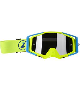 Мотоочки LAZER Goggle Race Style Yellow Fluo - Mirror Silver Lens