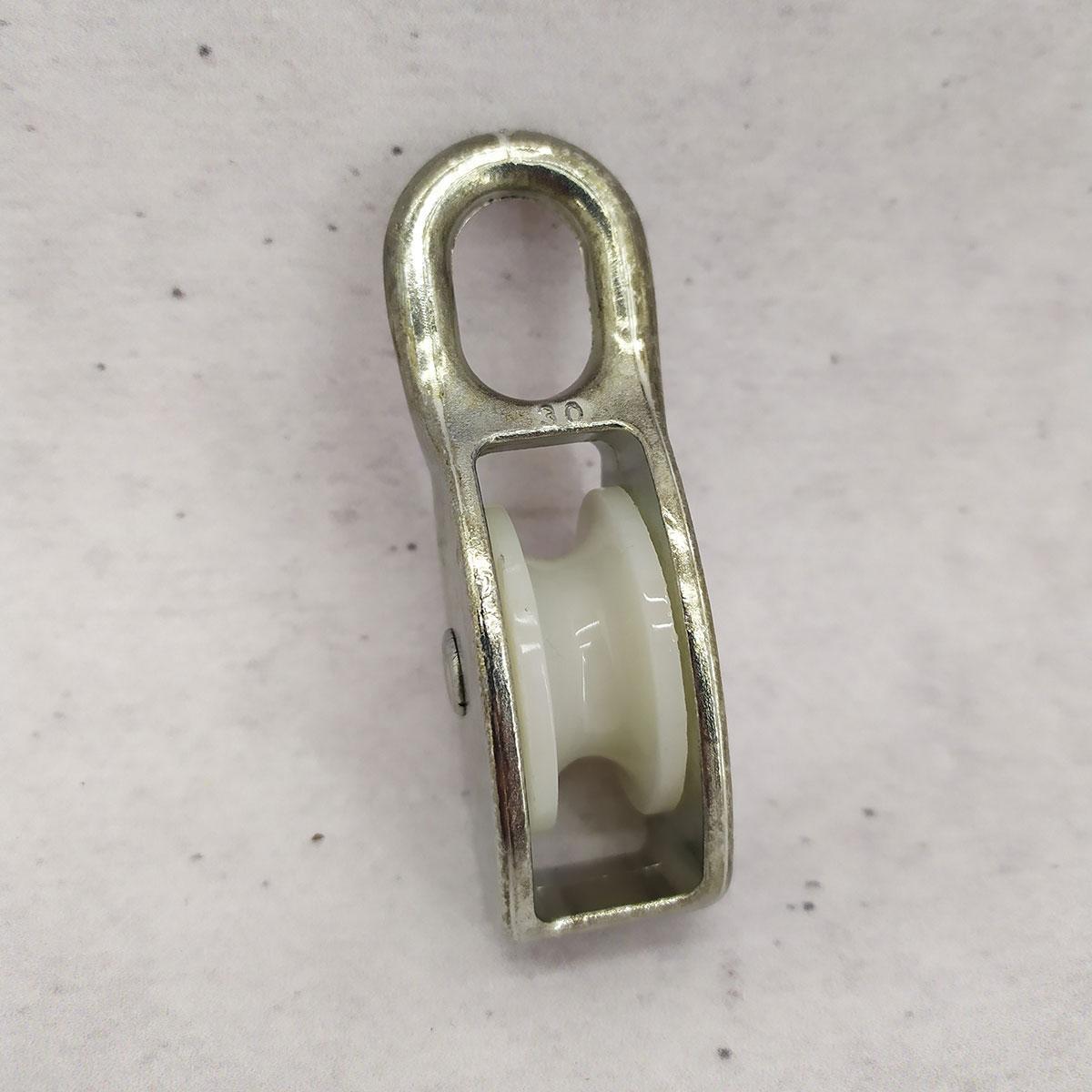 Блок такелажный бельевой одинарный  30 мм - блочок нейлоновый для подъема груза