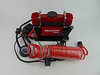 Компрессор Белавто БК46 Буран, 10атм, 90л/м, шланг 5,7м, провод 2,4м, двухпоршневой, прикуриватель, клемы