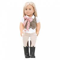 Вінілова лялька вершниця Лія (46 см) з довгим волоссям, Our Generation