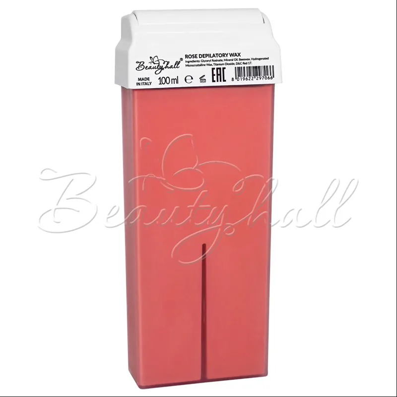 Воск Rosa/Titanium Pink/ воск розовый. Воск в кассете роза (Италия)