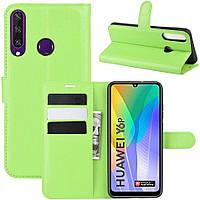 Чехол-книжка Litchie Wallet для Huawei Y6p Green