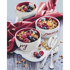 Картина по номерам раскраска по цифрам холст с контуром для взрослых 40х50см Сладкий привкус утра
