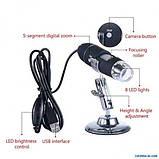 Цифровой микроскоп Usb Digital microscope Zoom с Led подсветкой, фото 3