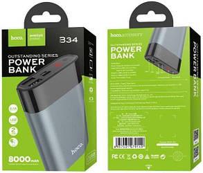 "Power bank HOCO B34 ""Outstanding"" 8000 mah (серый)"