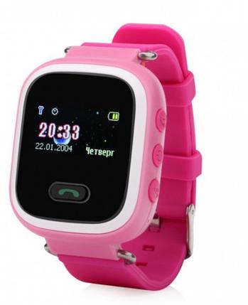 Детские умные телефон-часы с GPS трекером UWatch Q60 розовые, фото 2