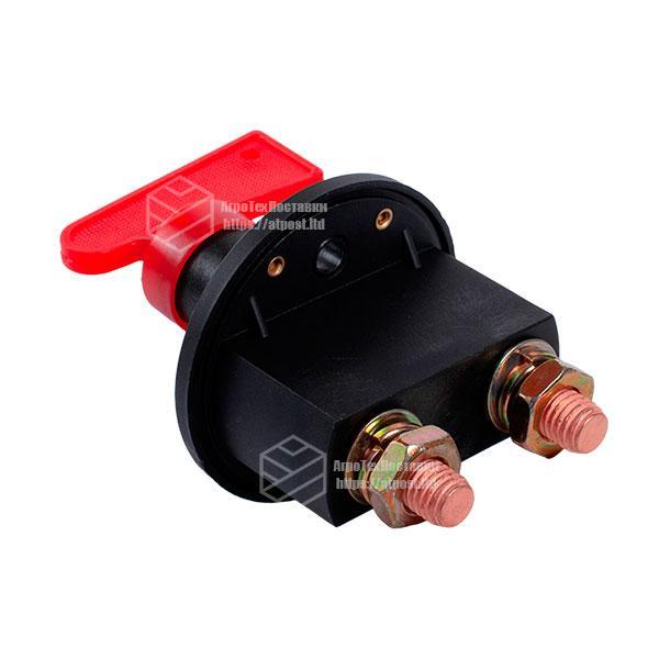 Вимикач маси універсальний, механічний 12/24В (червона мідь) 80A