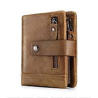 Мужской кошелек из натуральной кожи. Кожаный кошелек мужской портмоне из кожи Коричневый
