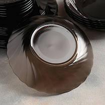 Большой столовый набор из коричневого стекла Luminarc Eclipse 44 предмета (L5110), фото 3