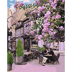 Картина по номерам раскраска по цифрам холст с контуром для взрослых 40х50см уютный ресторанчик