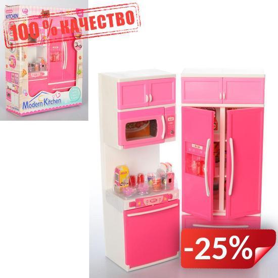 Игровой набор Modern Kitchen кухня со звуком и светом Pink (QF26215PW)