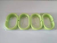 Кольца для шторки в ванную 12 шт салатовый