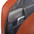 Рюкзак кожаный Piquadro Bl Square синий 16 л, фото 2