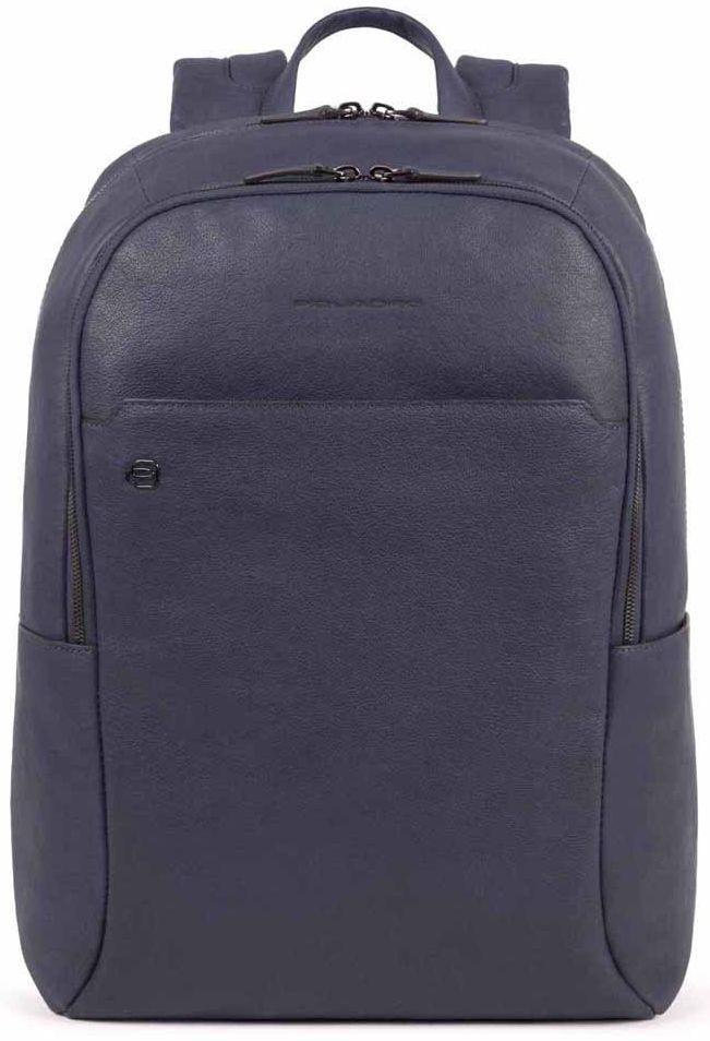 Рюкзак кожаный Piquadro Bl Square синий 16 л