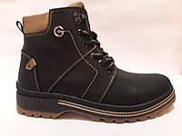 Мужские зимние ботинки из натуральной кожи. Чоловічі зимові чоботи., фото 1