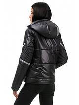 Демисезонная женская куртка прямого силуэта с декоративными элементами AG-298, фото 2