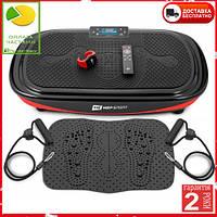 Вібраційна платформа Hop-Sport 4D HS-095VS Crown + накладка/пульт управління/годинник
