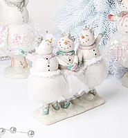 Статуэтка Трио снеговиков новогодняя 919-368