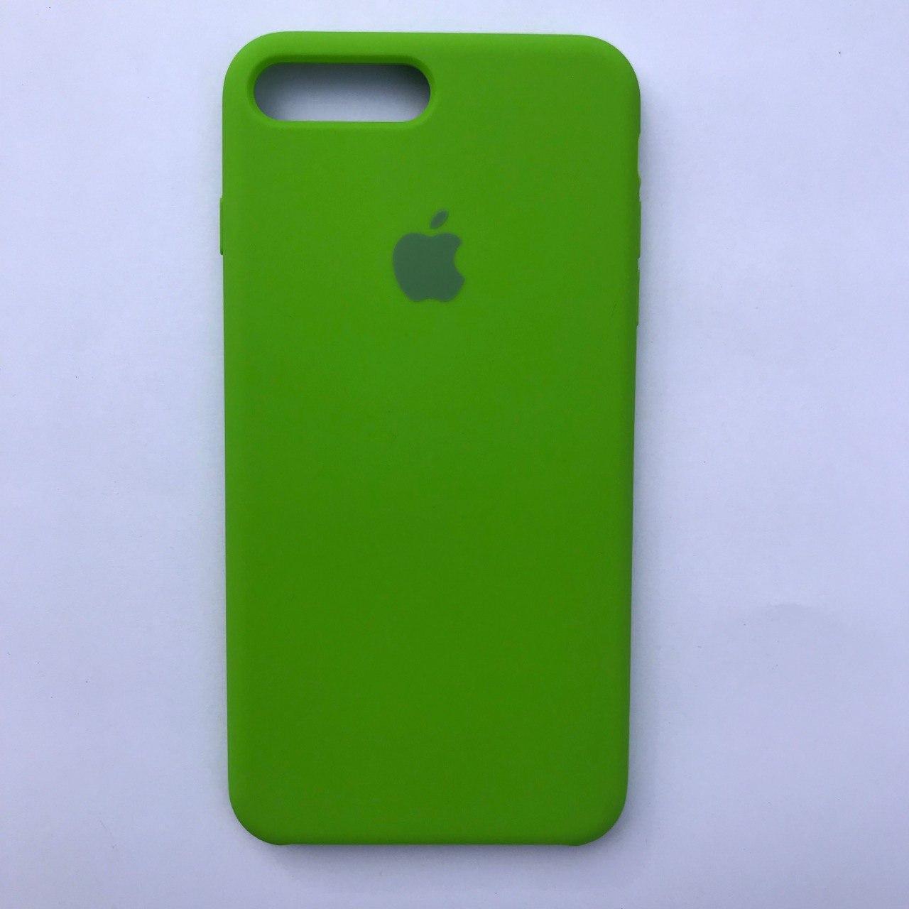 Чехол-накладка Silicone Case для Apple iPhone 7 Plus iPhone 8 Plus Dark green