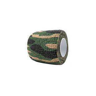 Камуфляжна клейка стрічка, скотч хакі, 5см х 4.5м, джунглі