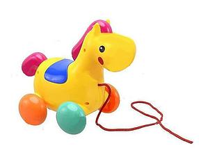 """Детская каталка """"Лошадь на веревочке"""" 2 цвета, 863"""