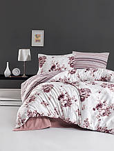 Комплект постельного белья из фланели евро размер ТМ First Choice Jaden pudra