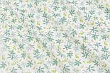 """Лоскут сатина """"Маленькие листики каштанов"""" на белом фоне, № 2882с, размер 48*80 см, фото 3"""