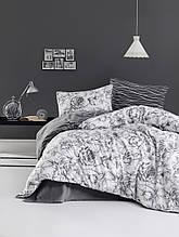 Комплект постельного белья из фланели евро размер ТМ First Choice Rozen Gri