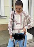 Женская замшевая сумка двойная polina&eiterou черная, фото 3