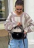 Женская замшевая сумка двойная polina&eiterou черная, фото 6