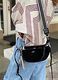 Женская замшевая сумка двойная polina&eiterou черная, фото 4